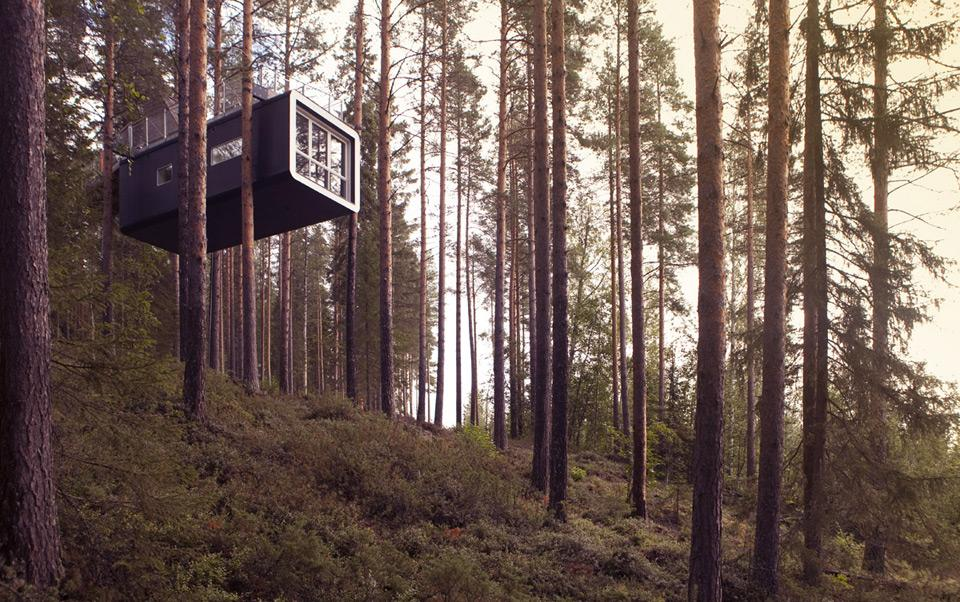 invisible tree house hotel. The Cabin Invisible Tree House Hotel